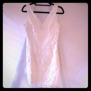 Ann Taylor Lace Cream Dress